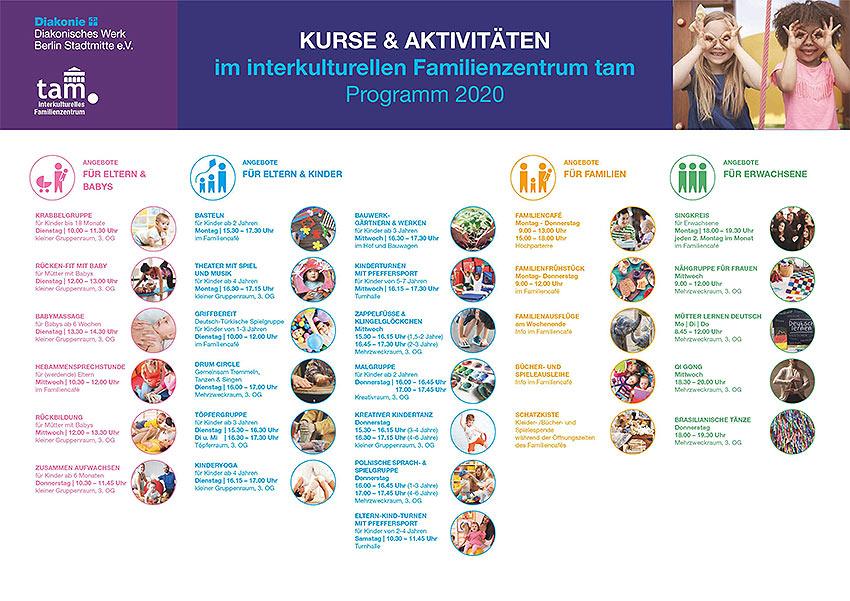 Familienzentrum tam Programm 2020